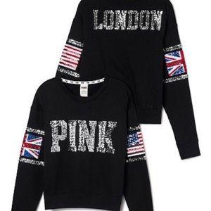 VS PINK Limited Edition London Crewneck Sweater